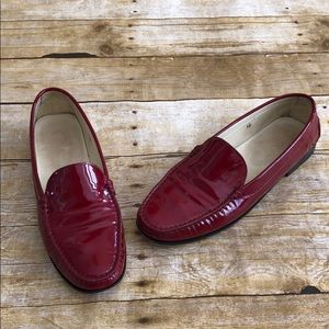 Tods Red Patent Loafers 10